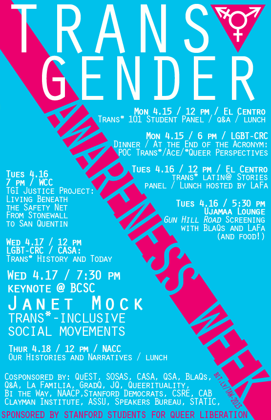 Welcome to Transgender Awareness Week | STATIC